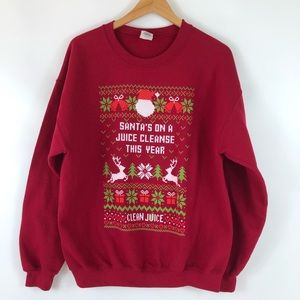 Gildan Clean Juice Fair Isle Christmas Sweatshirt